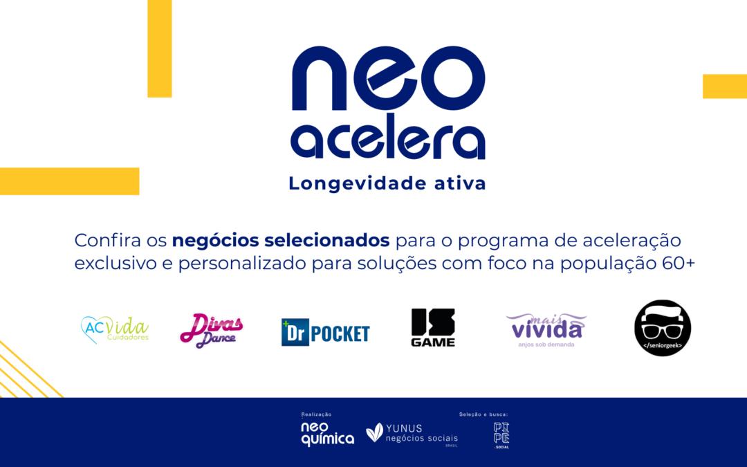 Neo Acelera, aceleradora da Neo Química, seleciona seis negócios sociais voltados para a longevidade
